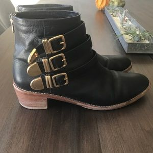 Loeffler randall Fenton boots black leather sz9.5