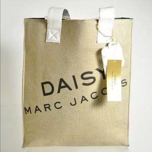 Daisy Marc Jacobs Gold Metallic Burlap Tote