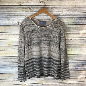 Paper Crane Grey & White Chunky Knit Sweater