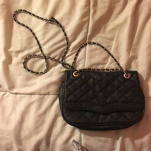 ALDO Black quilted long chainstrap purse