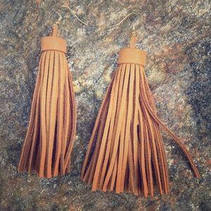 Jewelry - Sale Cognac Tassel Earrings with Gold Hooks