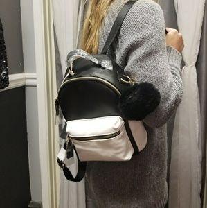 Handbags - 🐱Mini backpack with purse pom!🐱