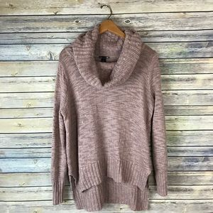 H&M Basic Tan Blush Chunky Cowl Neck Sweater