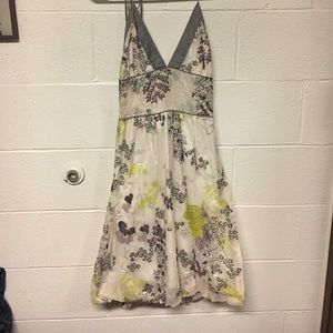 Dress with silver and green accents