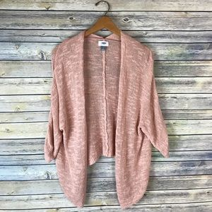 Old Navy Blush Pink Open Front Draped Cardigan