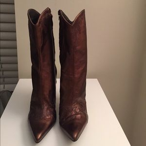 BCBGirls cowboy style heel boots.