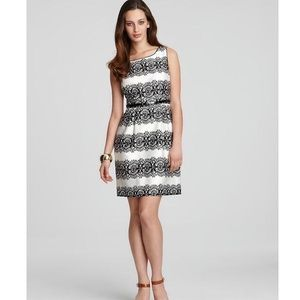 Kate Spade ♠️ lola lace-stripe sheath dress