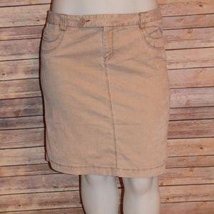 Gap Stretch Corduroy Jean Skirt Beige Size16 HW383