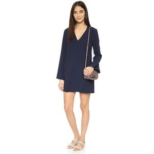 Finders Keepers Navy Side Lace-Up Dress