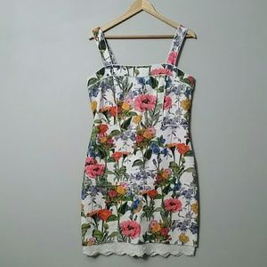 Floral Dress with Lace Lining