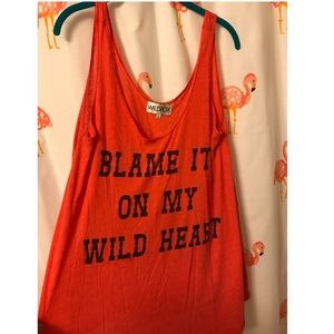 "Wildfox ""Blame it on my wild heart"" oversized Tank"