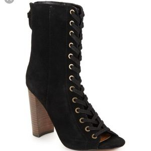 Steve madden freely lace up booties