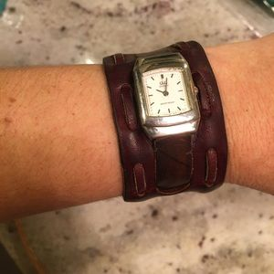 Anthropologie Quartz leather watch