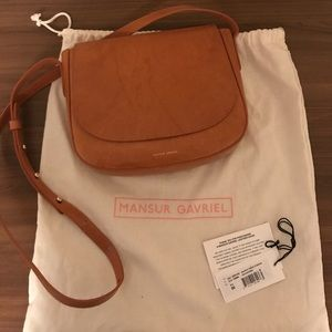 Mansur Gavriel Leather Crossbody Flap Bag