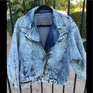 Vintage Denim Biker Jacket