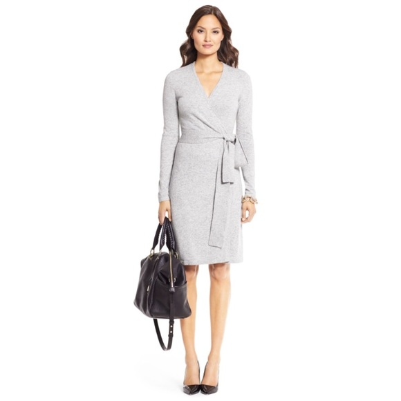 0460647995feb Diane Von Furstenberg Dresses | Dvf Linda Grey Cashmere Wrap Dress ...