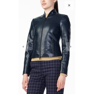 Armani Exchange Sporty Faux Leather Jacket