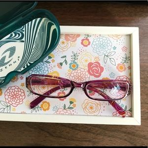 zenni optical red confetti frames