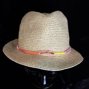 Lilly Pulitzer Target Gold Speckled Fedora Hat
