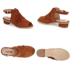 'Blinder' Fringe slingback sandal