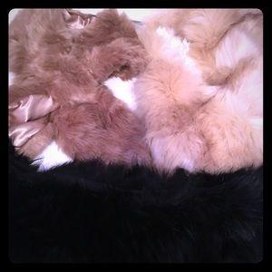 Forever 21 Faux Fur scarfs
