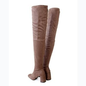 Speed Limit 98 Shoes - Billy-taupe-micro suede-thigh high boots