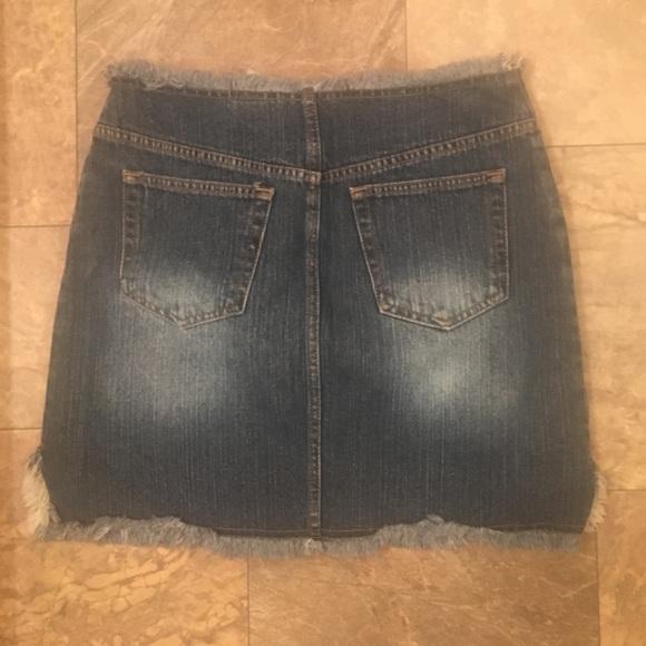 vintage Skirts - Vintage 1990s Blue Denim Frayed Midi Skirt Boho