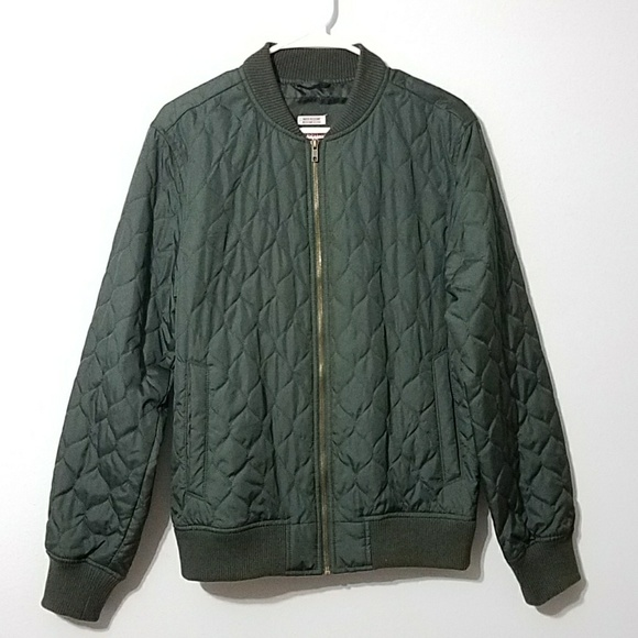 Mossimo Supply Co Jackets Coats Olive Quilted Nylon Bomber