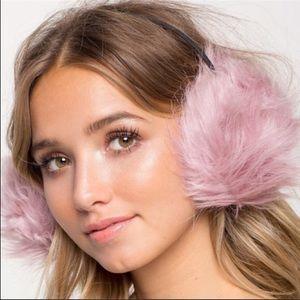 Mauve fur Earmuffs