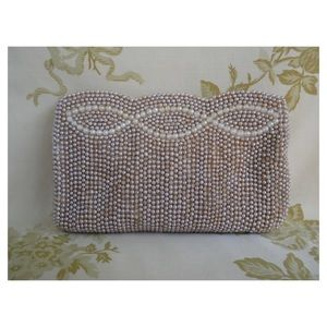 Faux Pearl Vintage Petite Clutch Made in Japan