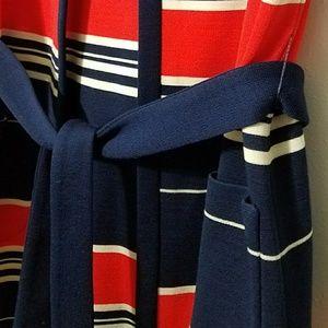 Vintage Sweaters - Vintage striped belted sweater vest