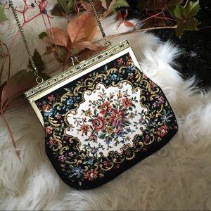Vintage Bags - vintage tapestry bag