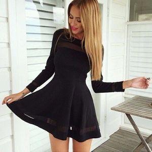 Dresses & Skirts - Patchwork Mesh Mini Dress PLEASE READ