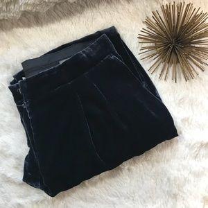 NWT H&M Navy Blue VelVet Trousers