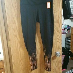3e5dcf9e85e Maurices Pants - Legging with rose gold metallic SIZE 0