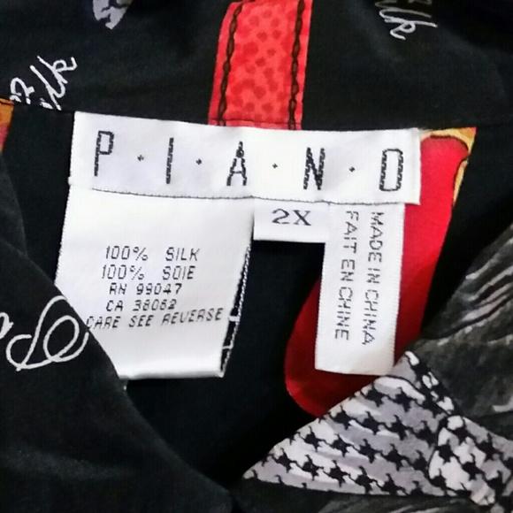 Vintage Tops - Vintage handbags print blouse