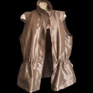 Coldwater Creek Women's Gold Zipper Vest XL 18