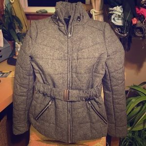 H&M Quilted Winter Coat Gray US10