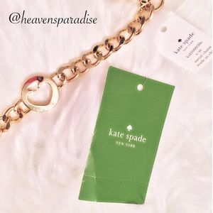 Kate Spade CUTOUT SPADE GoldTone Metal Chain Belt