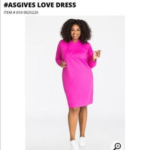 Ashley Stewart Breast Cancer Awareness Dress