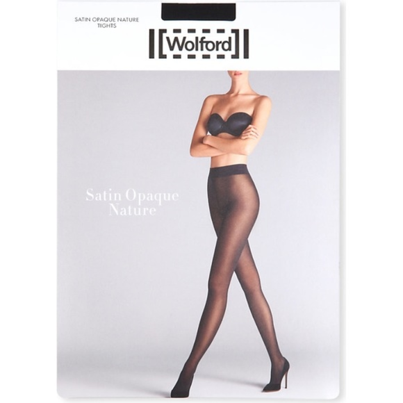 8e52aae078b Wolford Satin Opaque Nature Tights XS Midnight