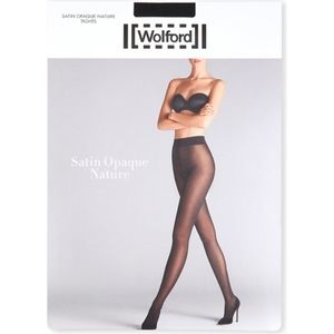 Wolford Satin Opaque Nature Tights XS Midnight