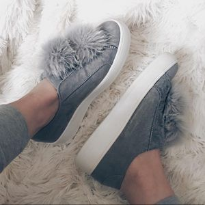 Steve Madden Shoes - Pom Sneakers