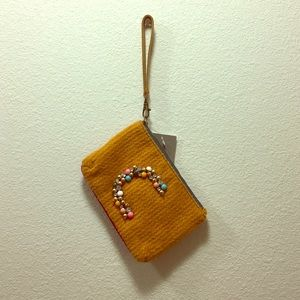 """Anthropologie """"C"""" Clutch with tag"""