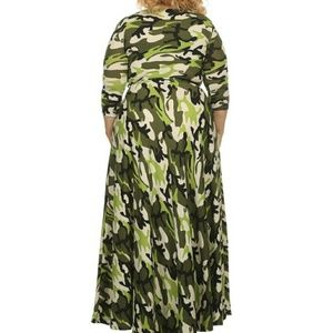 Dresses | Plus Size Army Fatigue Maxi Dress W Pockets | Poshmark