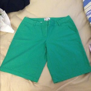 JCrew Bermuda shorts green size 4
