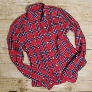 Tops - PLAID BUTTON DOWN