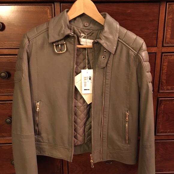 3b2f77e046 Patrizia Pepe Jackets & Coats | Grey Leather Jacket | Poshmark