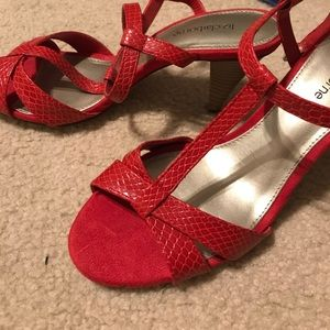 LC heels in red size 8
