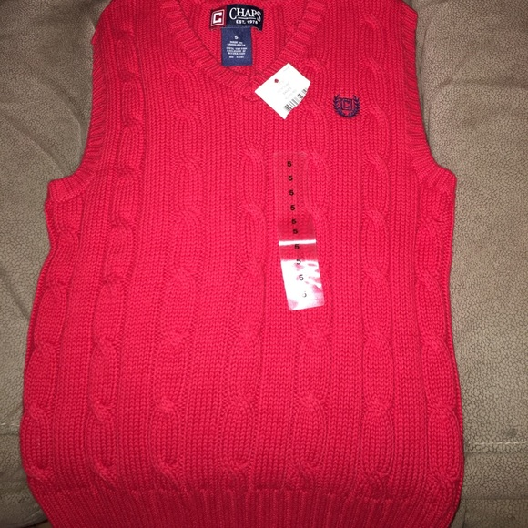 64% off Chaps Other - Chaps boys red sweater vest perfect for ...